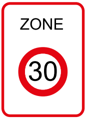 Panneau Zone 30 B30 - Groupe Self Signal