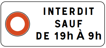 Panonceau M11b2  - Groupe Self Signal